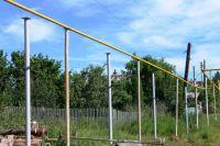 Строительство газопровода в Кыштыме.