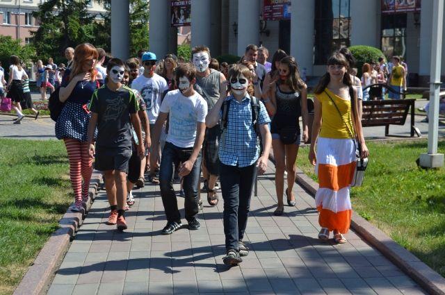 «Парад зомби» в Кемерове.