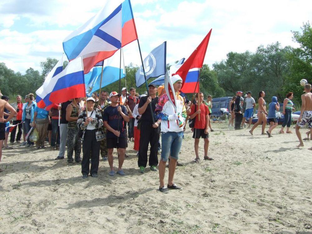 Восхождение под флагами