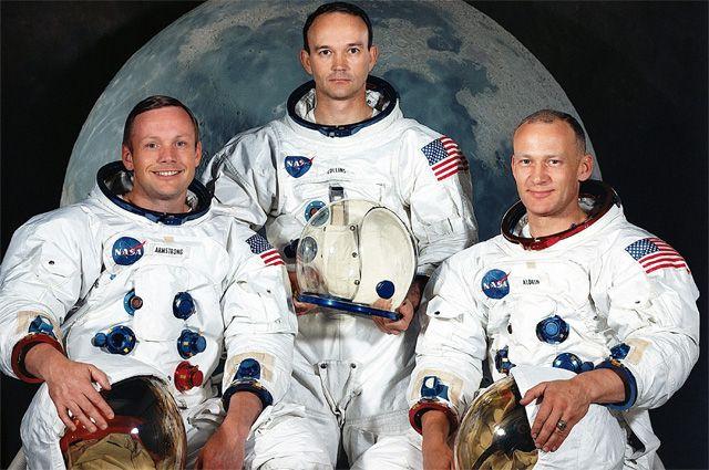 Нил Армстронг, Майкл Коллинз и Базз Олдрин.