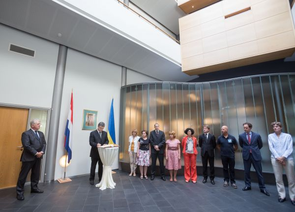 Петр Порошенко в посольстве Нидерландов в Киеве