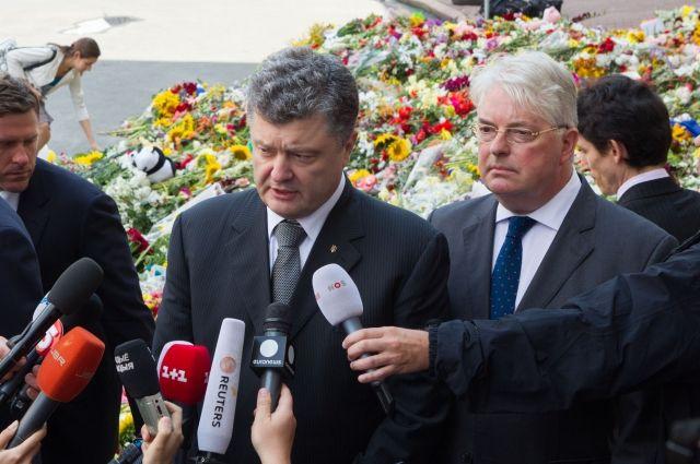Порошенко у здания посольства Нидерландов в Киеве