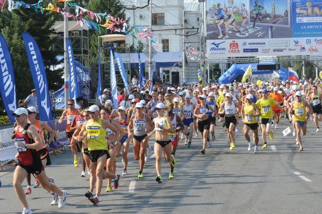 Сибирский международный марафон ежегодно привлекает тысячи участников.