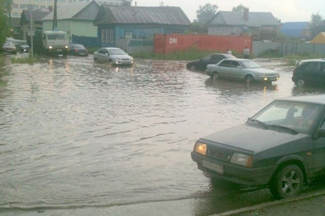 Частный сектор Ленинского района Челябинска оказался затоплен