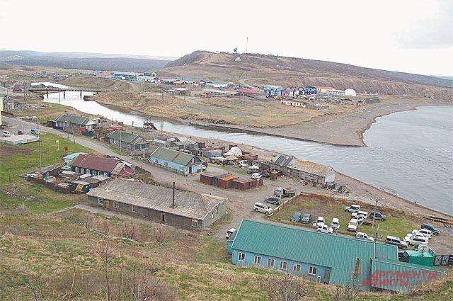 Столица острова Итуруп - город Курильск.