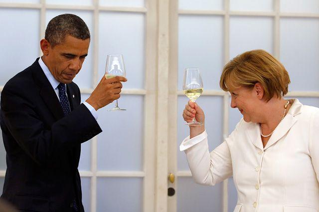 Барак Обама и Ангела Меркель.