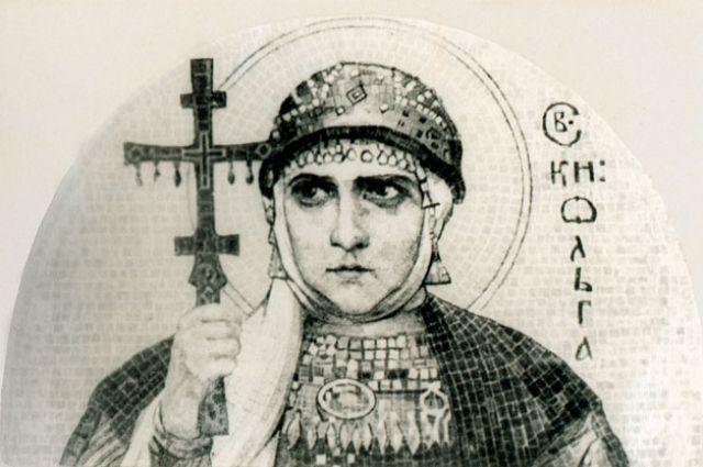 «Святая Ольга». Эскиз к мозаике Н. К. Рериха. 1915 год.
