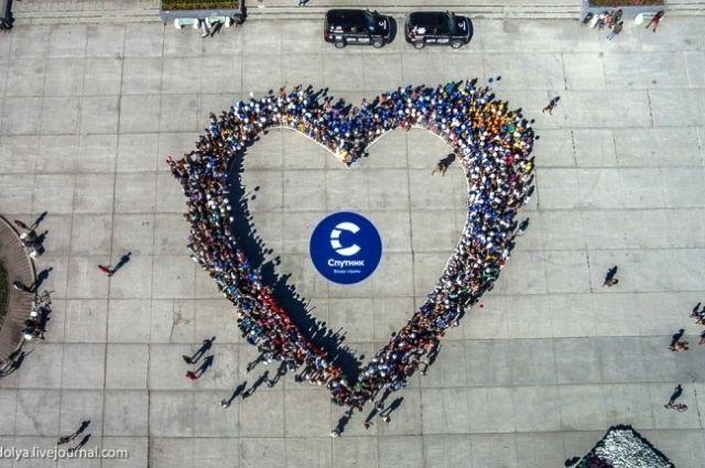 Сердце на главной площади Якутска
