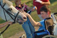 Иппотерапия (лечебная верховая езда) для детей-инвалидов.