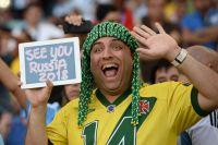 Бразильский болельщик в финальном матче чемпионата мира по футболу 2014 Германия - Аргентина.