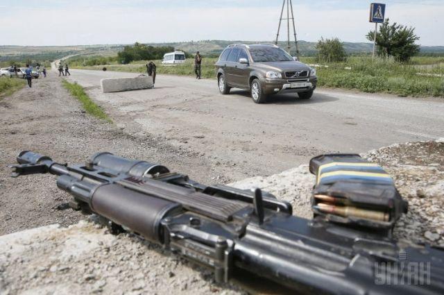 Блокпост в Донецкой области