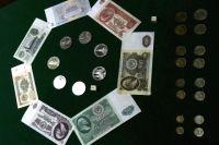 Советские монеты и банкноты 1961 года в экспозиции музея Центрального Банка РФ.