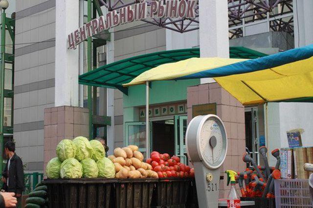 Центральный рынок Иркутска.