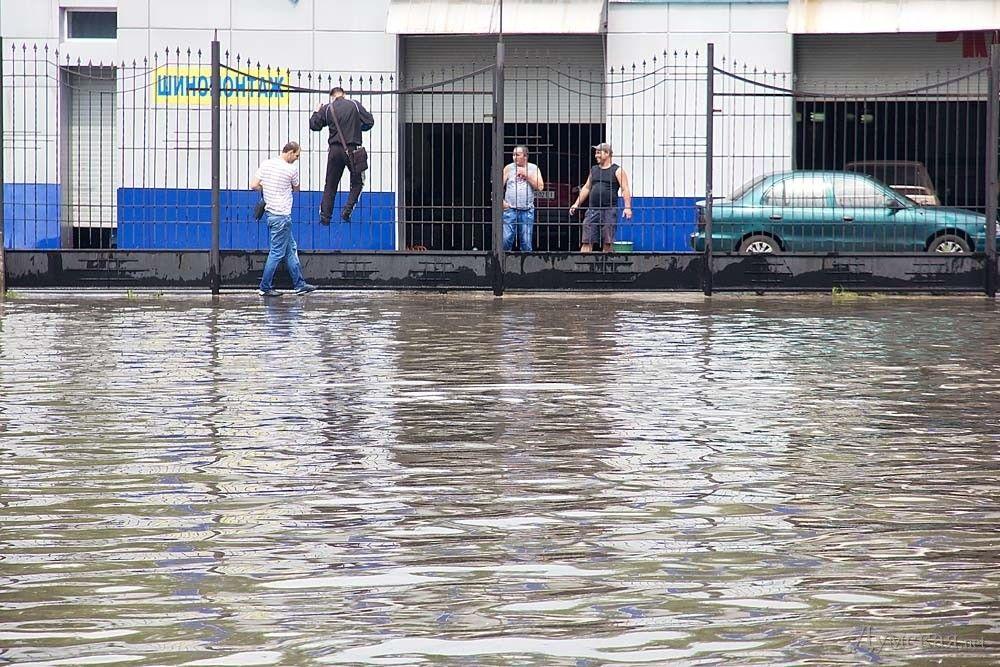 Затопленные улицы Одессы