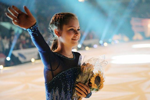 Олимпийская чемпионка по фигурному катанию Юлия Липницкая.