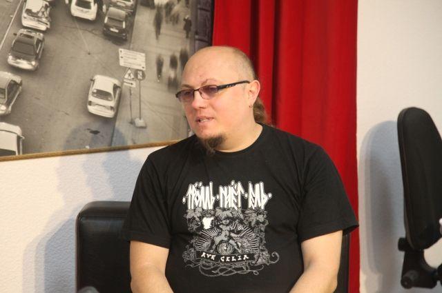 Константин Румянцев в пресс-центре