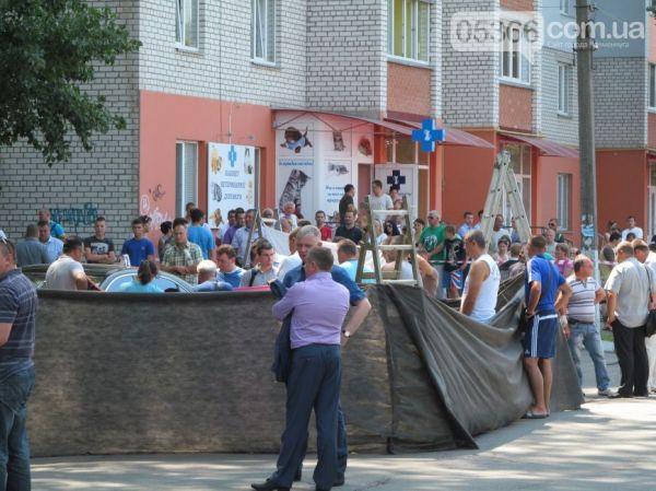 Место убийства мэра Кременчуга Олега Бабаева