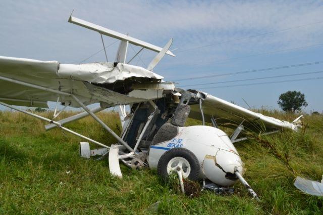 Крушение самолета во Львовской области