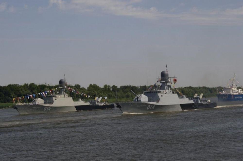 Прохождение артиллерийского корабля «Волгодонск».