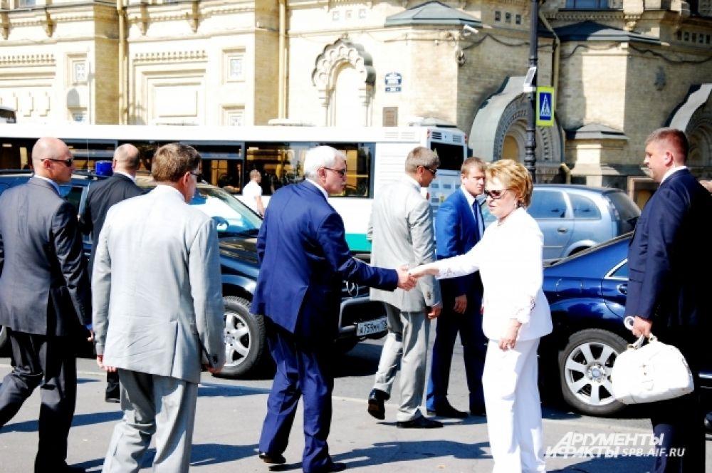 Глава Совета Федерации Валентина Матвиенко и врио губернатора Петербурга Георгий Полтавченко