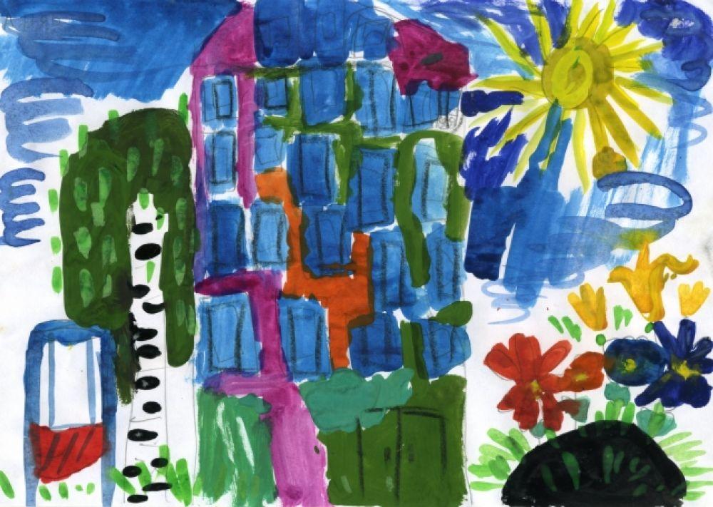 «Любимый дворик». Анна Банкет, 5 лет.