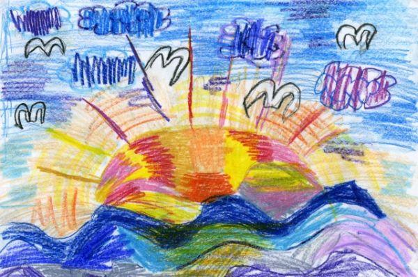 «Восход на Иртыше». Виктория Степанчук, 7 лет.