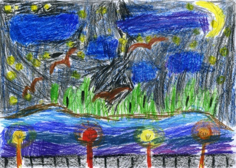 «Ночь на набережной». Виктория Куприянова, 7 лет.