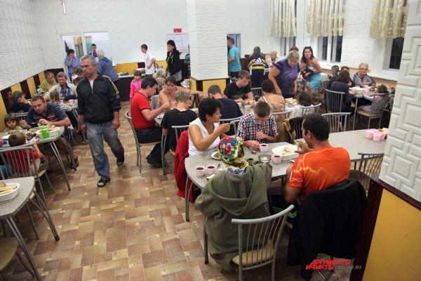Центр в Каштаке почти переполнен гражданами Украины.
