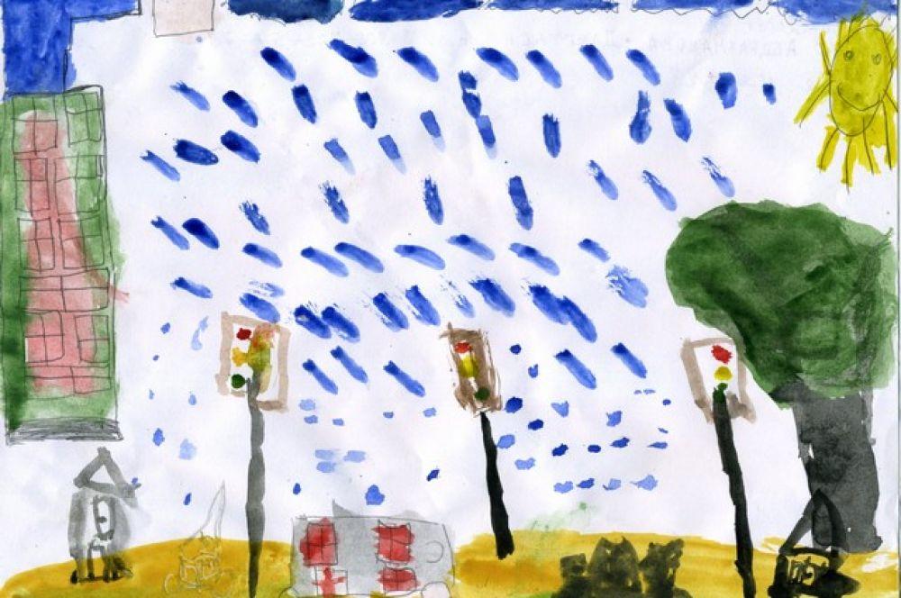 «Моя улица». Жулдыс Абдрахманова, 6 лет.