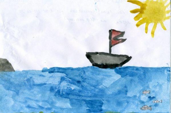 «Плывет лодка по Иртышу». Павел Бондаренко, 6 лет.
