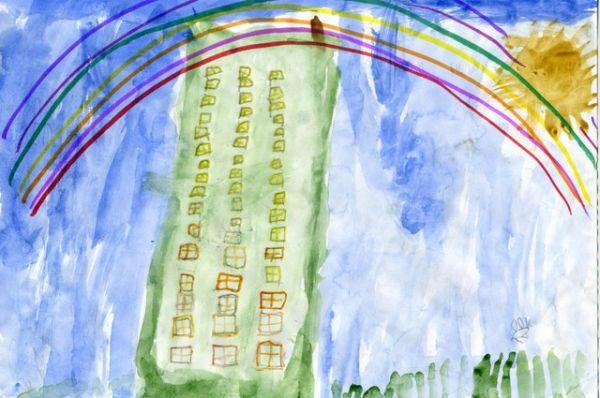«Радуга после дождя», Глеб Смитненко, 5 лет.