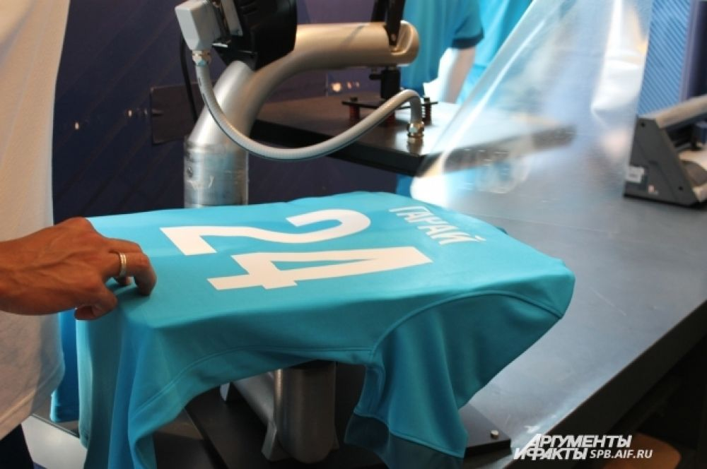 Процесс нанесения номера и фамилии на футболку достаточно прост