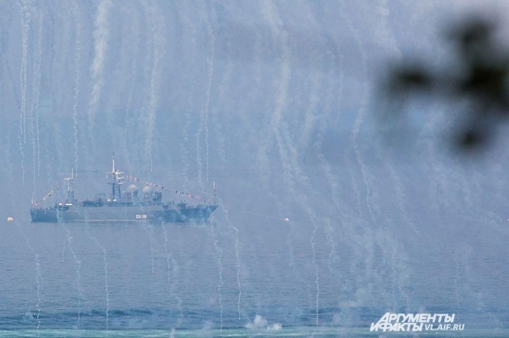 На самом деле помехи надёжно укрывают корабли от ракет противника.