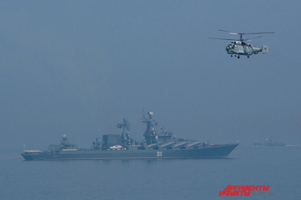 Флот действует и на море, и в воздухе.