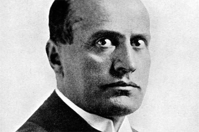 Бенито Муссолини.