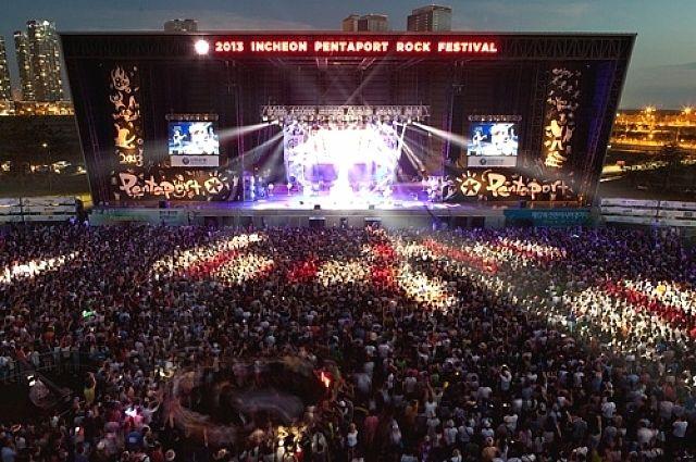 Рок-концерт в Южной Корее.