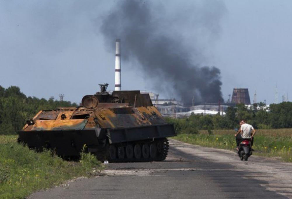 Освобожденный от боевиков Лисичанск