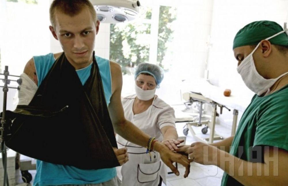 Раненые во время АТО украинские военные