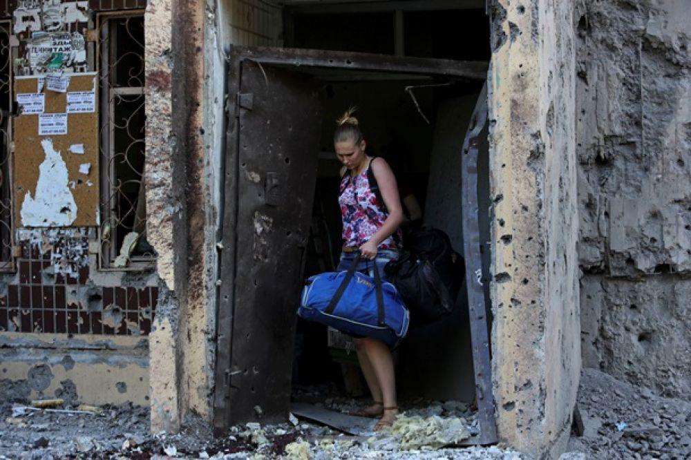 Донецк после мощного артобстрела