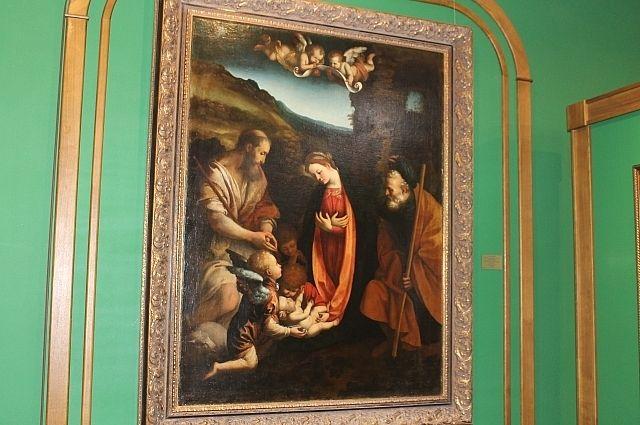 Это тоже Святое семейство, но мы ждём приезда другой картины.