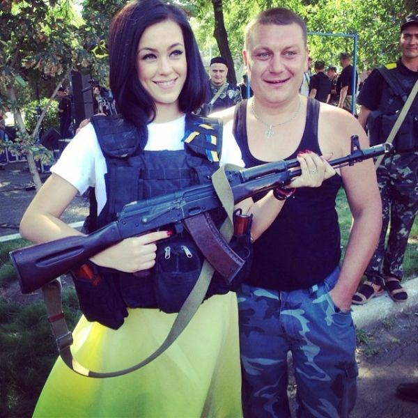 Мария Яремчук в зоне АТО