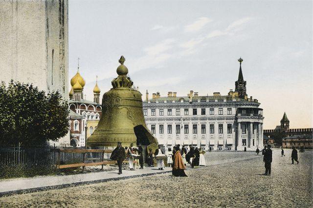 Царь-колокол в Кремле. Рисунок неизвестного автора, ок. 1908 г.