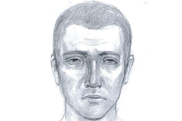 Фоторобот мужчины, подозреваемого в изнасиловании девушки.