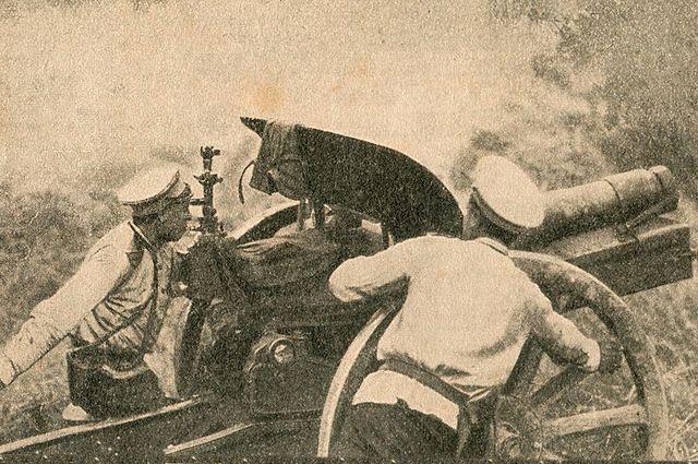 На полях сражений Первой мировой.