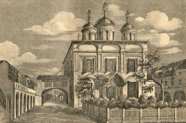 Вознесенский собор (1588 г.), рисунок нач. XIX в.