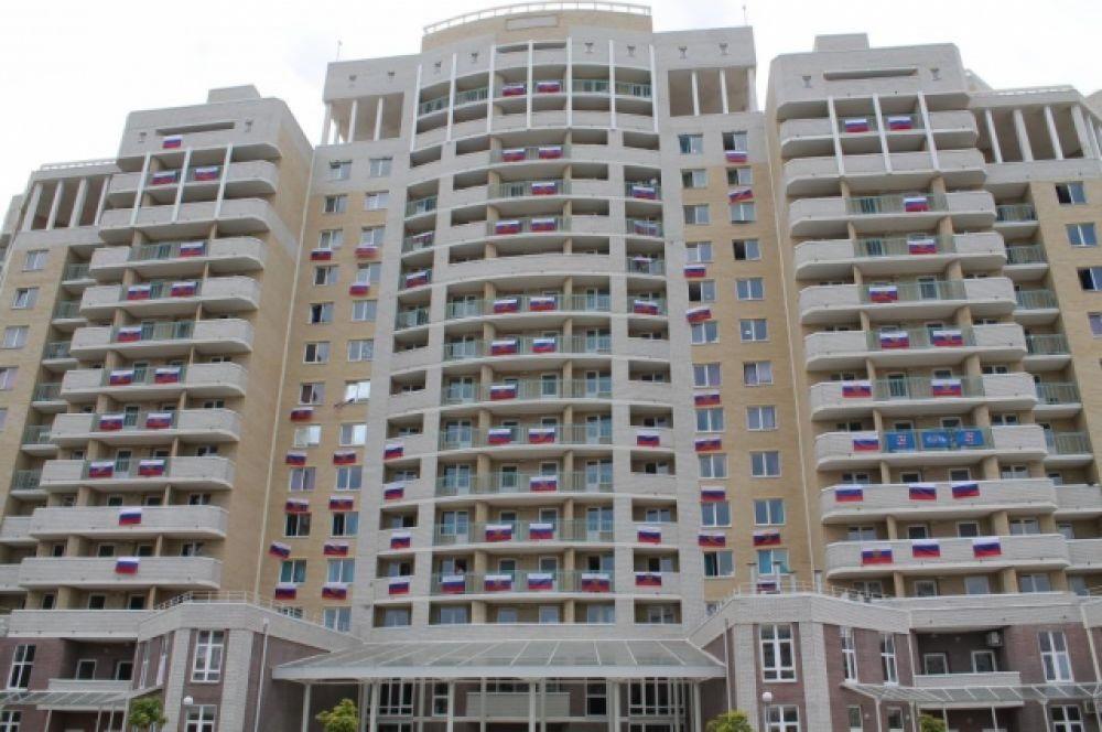 Здание одного из общежитий нового кампуса ЮФУ на Западном.