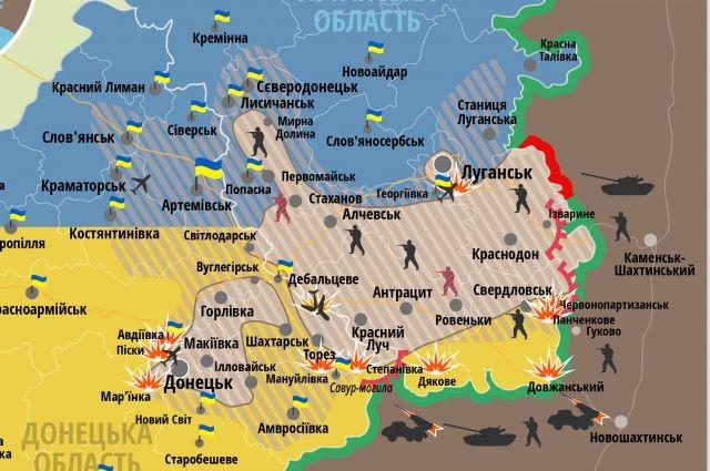 Карта СНБО