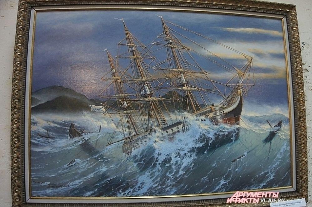 Море на картинах Валерия Шиляева разное - от умиротворённо-спокойного, до бурного и буйного.