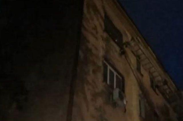 Так выглядел дом в первые часы после взрыва.