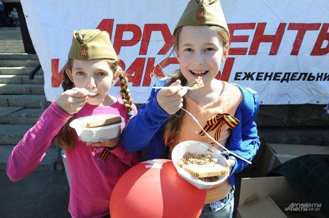 Гостей праздника накормят солдатской кашей.